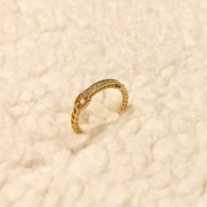 David yurman cable ring size 7 18k gold